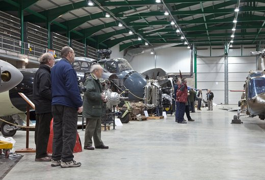 Members are allowed occasional privileged access to the Museum's Reserve Collection at Cobham Hall, RNAS Yeovilton.