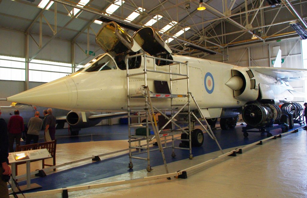 Ill-fated bomber, the TSR2 was canceled before it could enter service. This is one of only two surviving prototypes.